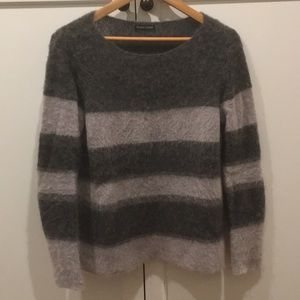 Eileen Fisher Striped Mohair Sweater